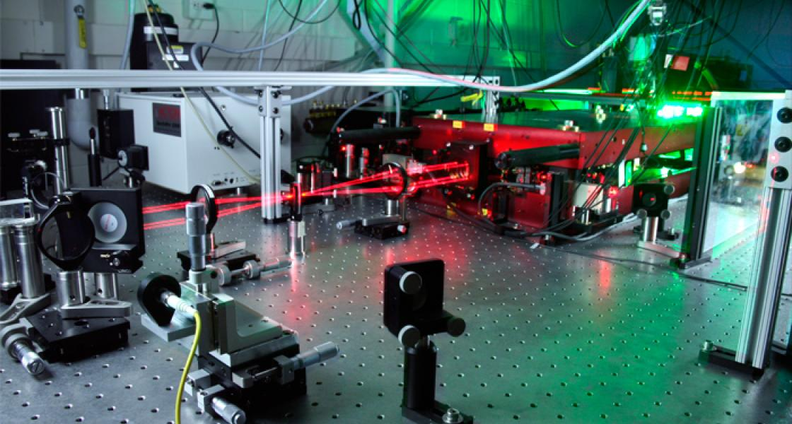 The JILA MONSTR (Multidimensional Optical Nonlinear SpecTRometer) used to study the coupling of multiple excitons in quantum wells.