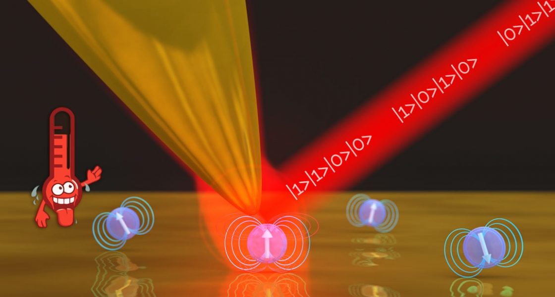 AFM creating strong coupling with the quantum dot