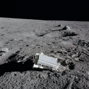 The Laser Ranging Retroreflector on the moon in 1969