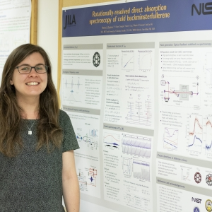 Dr. Marissa Weichman and her prize-winning poster