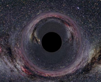 Artist's conception of a black hole.