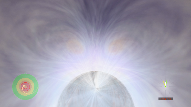 Journey into a realistic black hole